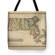 Antique Map Of Massachusetts Tote Bag