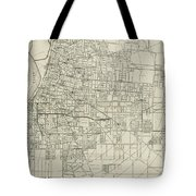 Vintage Map Of Memphis Tennessee - 1911 Tote Bag