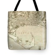 Vintage Map Of Messina Italy - 1900 Tote Bag