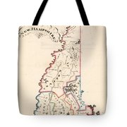 Vintage Map Of New Hampshire - 1819 Tote Bag