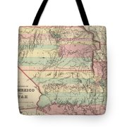 Vintage Map Of New Mexico And Utah - 1857 Tote Bag