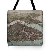 Vintage Map Of New York City - 1905 Tote Bag