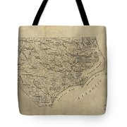 Vintage Map Of North Carolina - 1893 Tote Bag