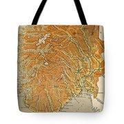 Vintage Map Of Norway - 1914 Tote Bag