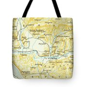 Vintage Map Of Olympia Greece - 1894 Tote Bag