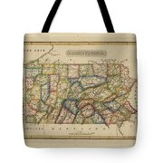 Antique Map Of Pennsylvania Tote Bag