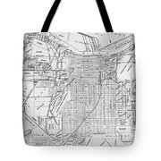 Vintage Map Of Savannah Georgia - 1910 Tote Bag