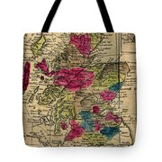 Vintage Map Of Scotland - 1808 Tote Bag