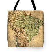 Vintage Map Of South America - 1821 Tote Bag