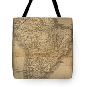 Vintage Map Of South America - 1825 Tote Bag