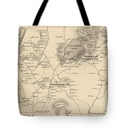 Vintage Map Of Spofford And Chesterfield Nh - 1892 Tote Bag