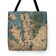 Vintage Map Of Sydney Australia - 1922 Tote Bag
