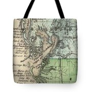 Vintage Map Of Tampa Florida - 1870 Tote Bag