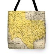 Vintage Map Of Texas - 1847 Tote Bag