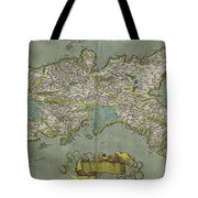 Vintage Map Of The Kingdom Of Naples - 1608 Tote Bag