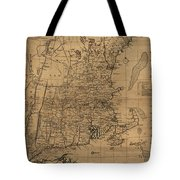 Vintage Map Of The New England Coast - 1771 Tote Bag