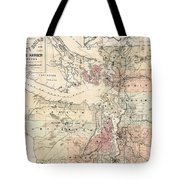 Vintage Map Of The Puget Sound - 1891 Tote Bag