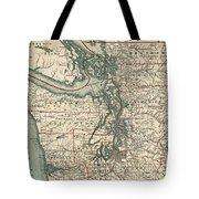 Vintage Map Of The Puget Sound - 1910 Tote Bag
