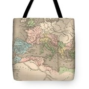 Vintage Map Of The Roman Empire - 1838 Tote Bag