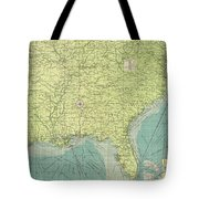 Vintage Map Of The Southeastern U.s. Ports - 1922 Tote Bag