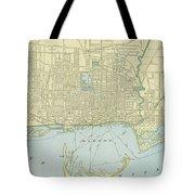 Vintage Map Of Toronto - 1901 Tote Bag
