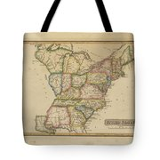 Antique Map Of United States Tote Bag