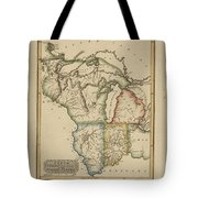 Antique Map Of Upper Territories Of The United States Tote Bag