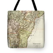 Vintage Map Of Vermont - 1797 Tote Bag