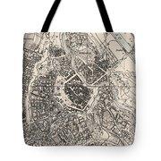 Vintage Map Of Vienna Austria - 1906 Tote Bag