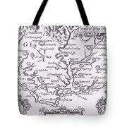 Vintage Map Of Virginia Tote Bag