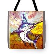 Vintage Marlin Tote Bag