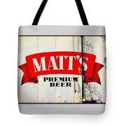 Vintage Matt's Premium Beer Sign Tote Bag