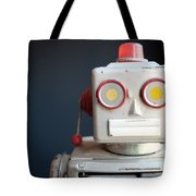 Vintage Mechanical Robot Toy Tote Bag