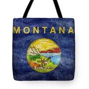 Vintage Montana Flag Tote Bag