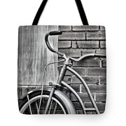 Vintage Montgomery Ward Bicycle 6 - B/w Tote Bag