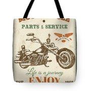 Vintage Motorcycling Mancave-c Tote Bag