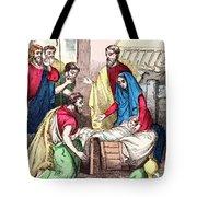 Vintage Nativity Scene Tote Bag