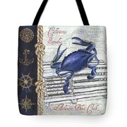 Vintage Nautical Crab Tote Bag