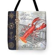 Vintage Nautical Lobster Tote Bag