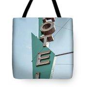 Vintage Neon Sign Hotel Livingston Montana Tote Bag
