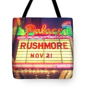 Vintage Neon Sign Over The Entrance To Historic Palace Theatre In Downtown La. Tote Bag