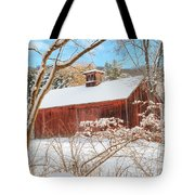 Vintage New England Barn Portrait Tote Bag by Bill Wakeley