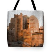 Vintage New York City Apartments Tote Bag