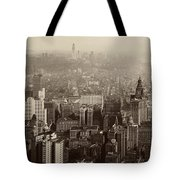 Vintage New York City Panorama Tote Bag