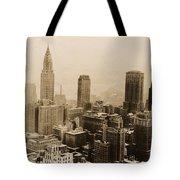 Vintage New York City Skyline Photograph - 1935 Tote Bag