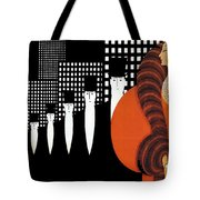 Vintage New York Glamour Art Deco Tote Bag