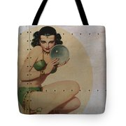 Vintage Nose Art Mystic Marla Tote Bag