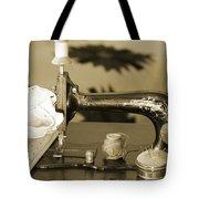 Vintage Notions In Sepia Tones Tote Bag