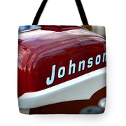 Vintage Johnson Outboard Red  Tote Bag