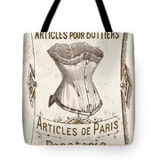 Vintage Paris Corsette Sign Tote Bag